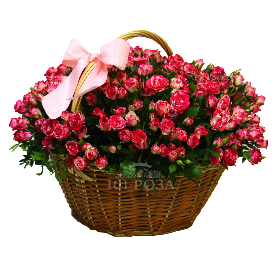 Открытки с корзинами роз
