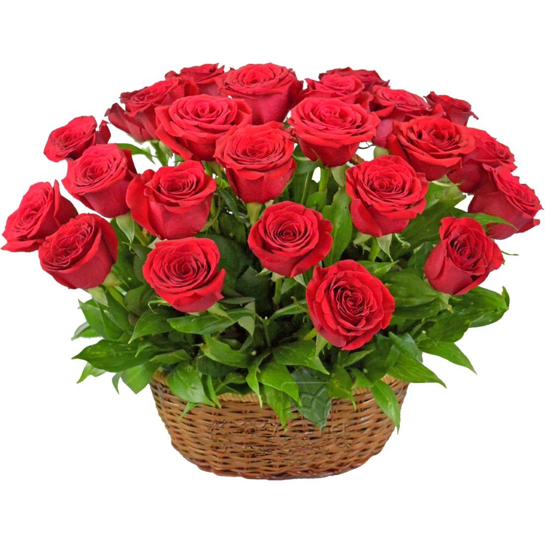 Картинка, открытки с корзинками роз